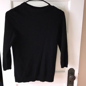 3/4 sleeve cashmere crew neck sweater size s